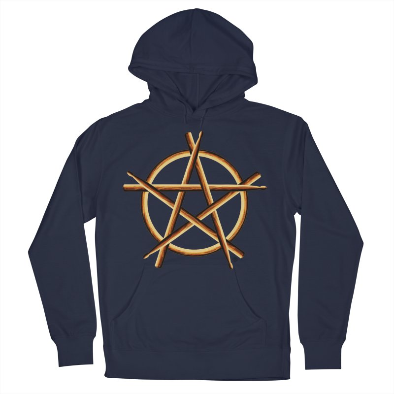 PAGAN DRUMMER Women's French Terry Pullover Hoody by Felix Culpa Designs