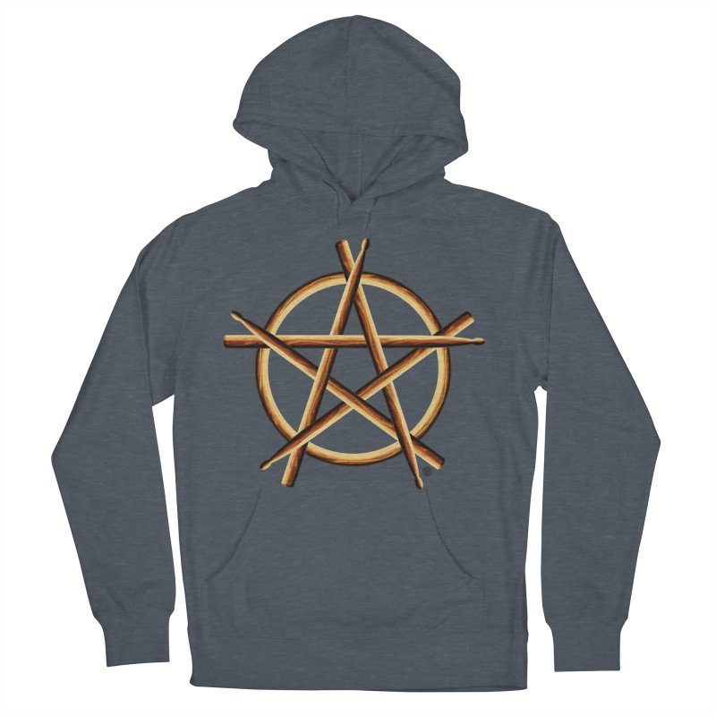 PAGAN DRUMMER Men's French Terry Pullover Hoody by Felix Culpa Designs