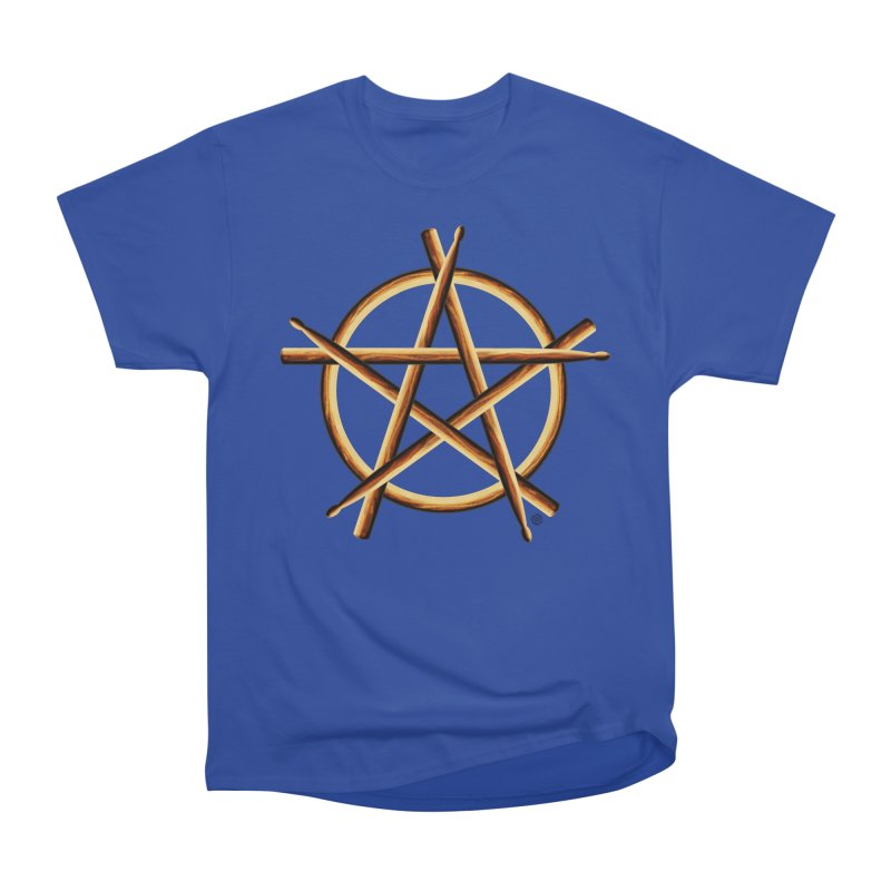 PAGAN DRUMMER Women's Heavyweight Unisex T-Shirt by Felix Culpa Designs