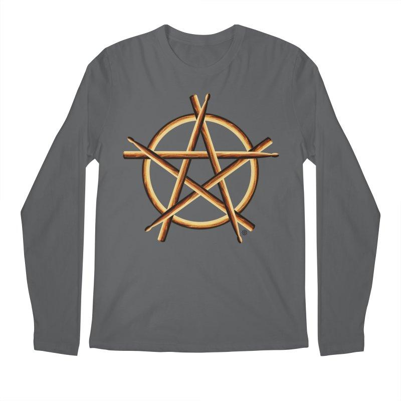 PAGAN DRUMMER Men's Regular Longsleeve T-Shirt by Felix Culpa Designs