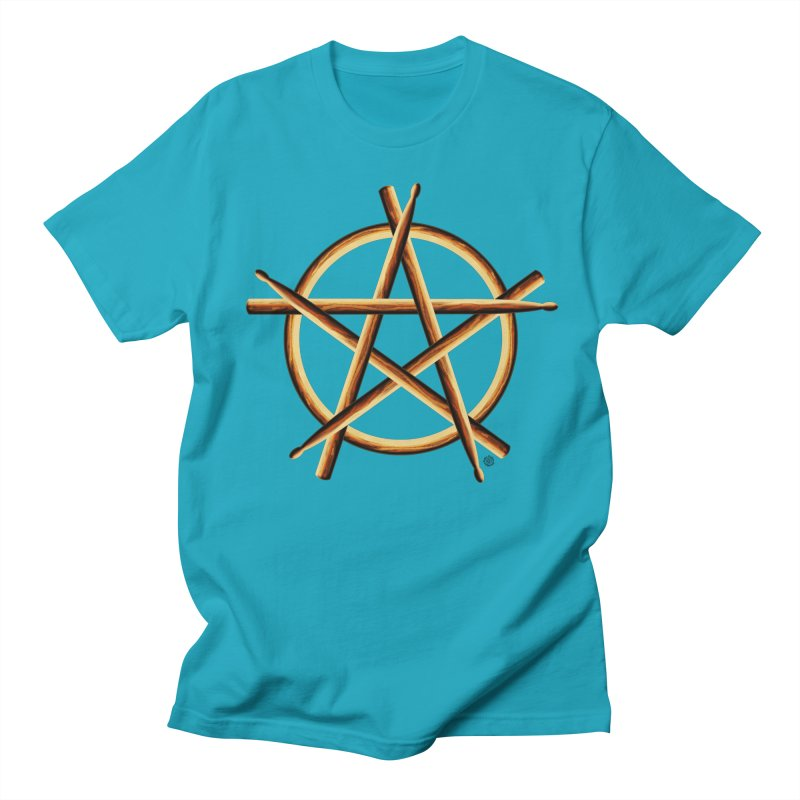 PAGAN DRUMMER Women's Regular Unisex T-Shirt by Felix Culpa Designs