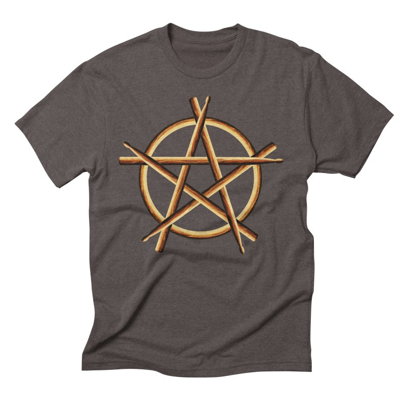 PAGAN DRUMMER Men's Triblend T-Shirt by Felix Culpa Designs
