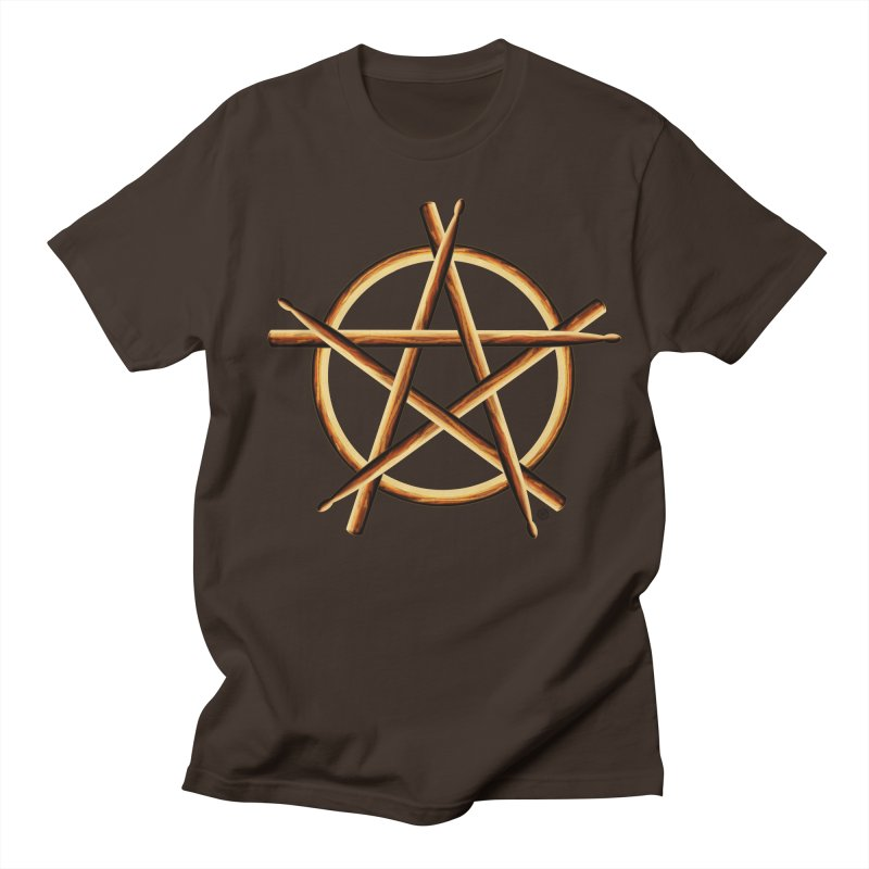 PAGAN DRUMMER Men's Regular T-Shirt by Felix Culpa Designs