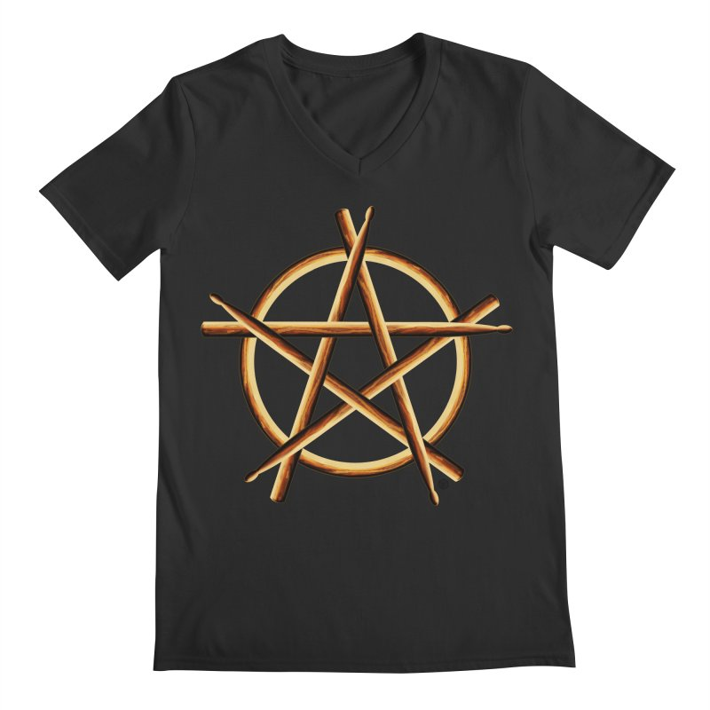 PAGAN DRUMMER Men's Regular V-Neck by Felix Culpa Designs