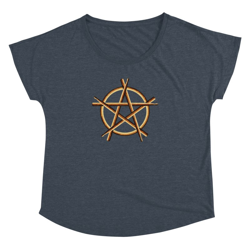 PAGAN DRUMMER Women's Dolman Scoop Neck by Felix Culpa Designs