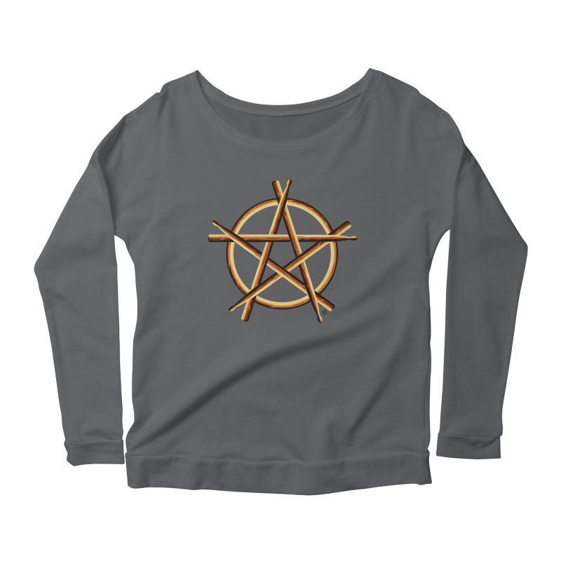 PAGAN DRUMMER Women's Scoop Neck Longsleeve T-Shirt by Felix Culpa Designs
