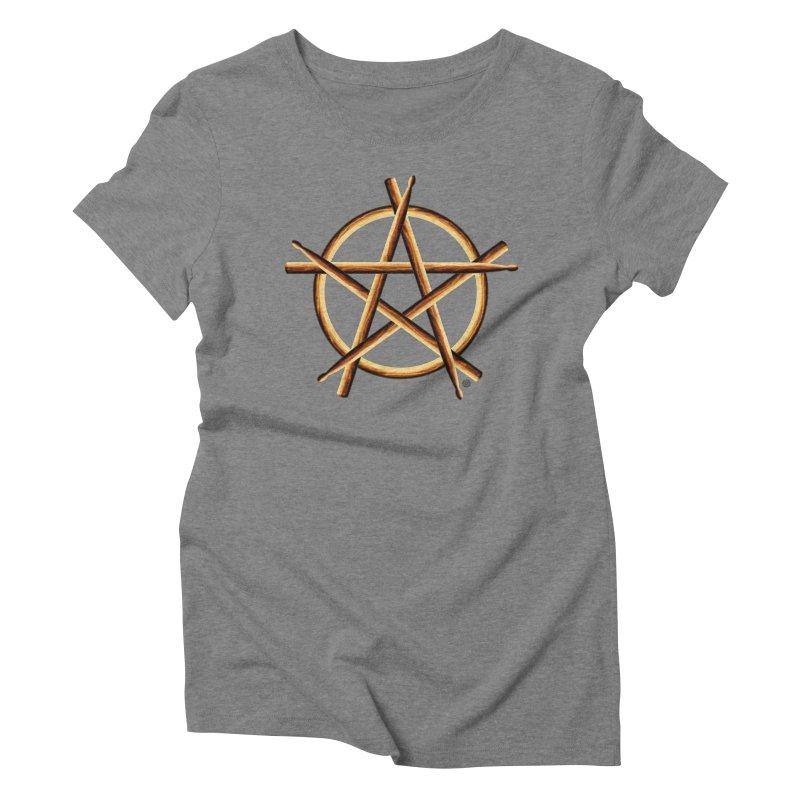 PAGAN DRUMMER Women's Triblend T-Shirt by Felix Culpa Designs