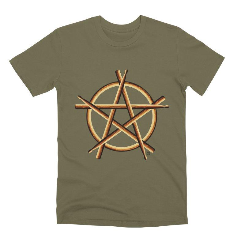 Pagan Drummer Men's Premium T-Shirt by Felix Culpa Designs