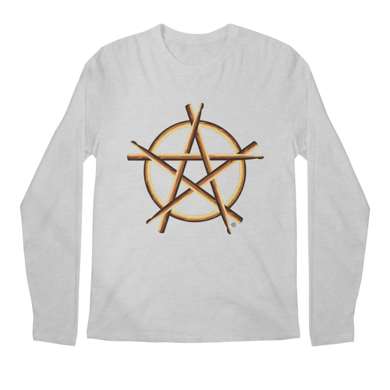 Pagan Drummer Men's Regular Longsleeve T-Shirt by Felix Culpa Designs