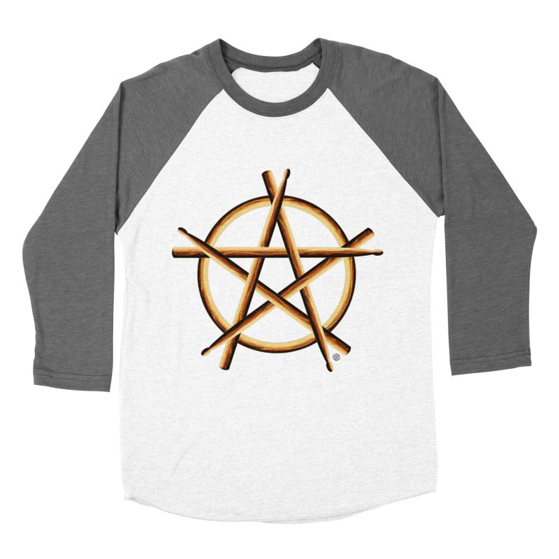 Pagan Drummer Women's Baseball Triblend Longsleeve T-Shirt by Felix Culpa Designs