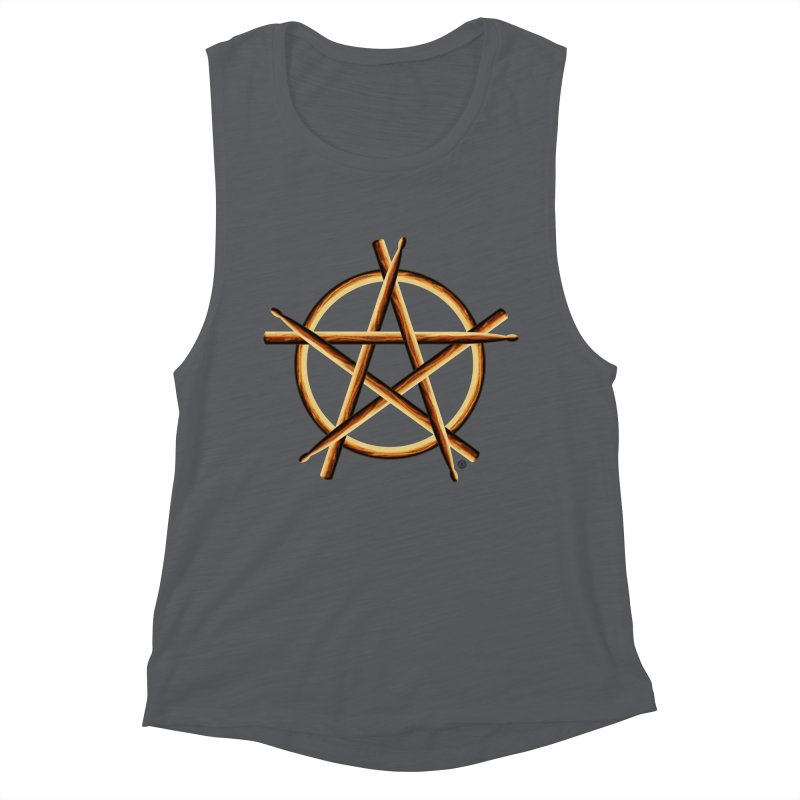 Pagan Drummer Women's Muscle Tank by Felix Culpa Designs