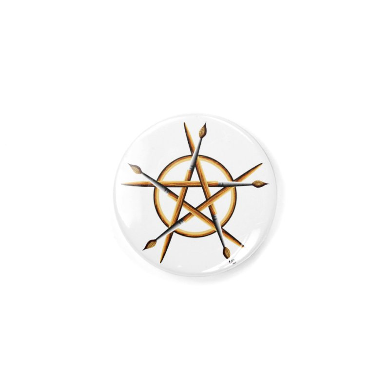Pagan Painter Accessories Button by Felix Culpa Designs