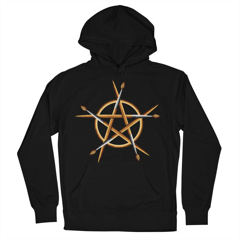 PAGAN PAINTER Men's French Terry Pullover Hoody by Felix Culpa Designs