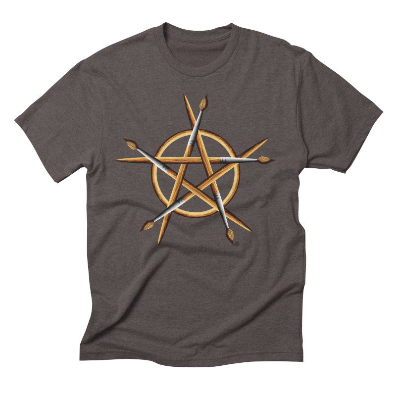 PAGAN PAINTER Men's Triblend T-Shirt by Felix Culpa Designs