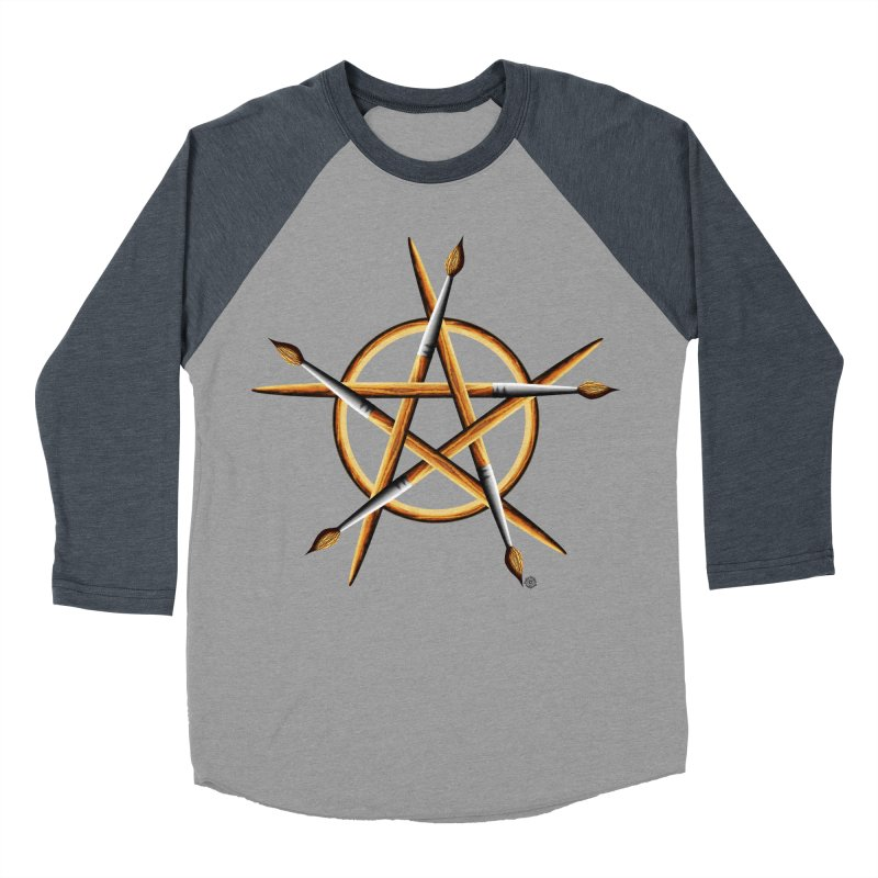 PAGAN PAINTER Men's Baseball Triblend Longsleeve T-Shirt by Felix Culpa Designs