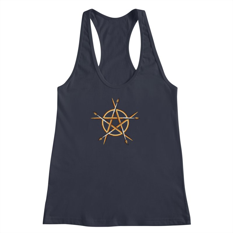 PAGAN PAINTER Women's Racerback Tank by Felix Culpa Designs