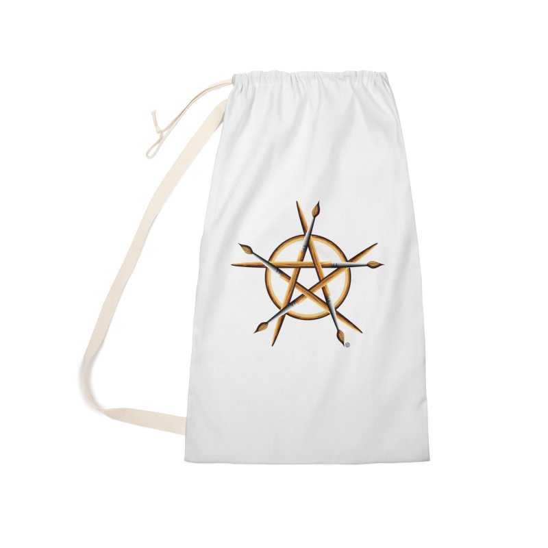 Pagan Painter Accessories Laundry Bag Bag by Felix Culpa Designs