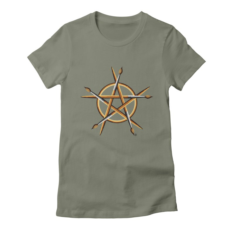 Pagan Painter Women's Fitted T-Shirt by Felix Culpa Designs