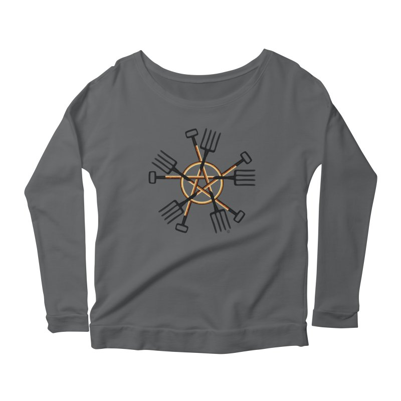 PAGAN GARDENER Women's Scoop Neck Longsleeve T-Shirt by Felix Culpa Designs