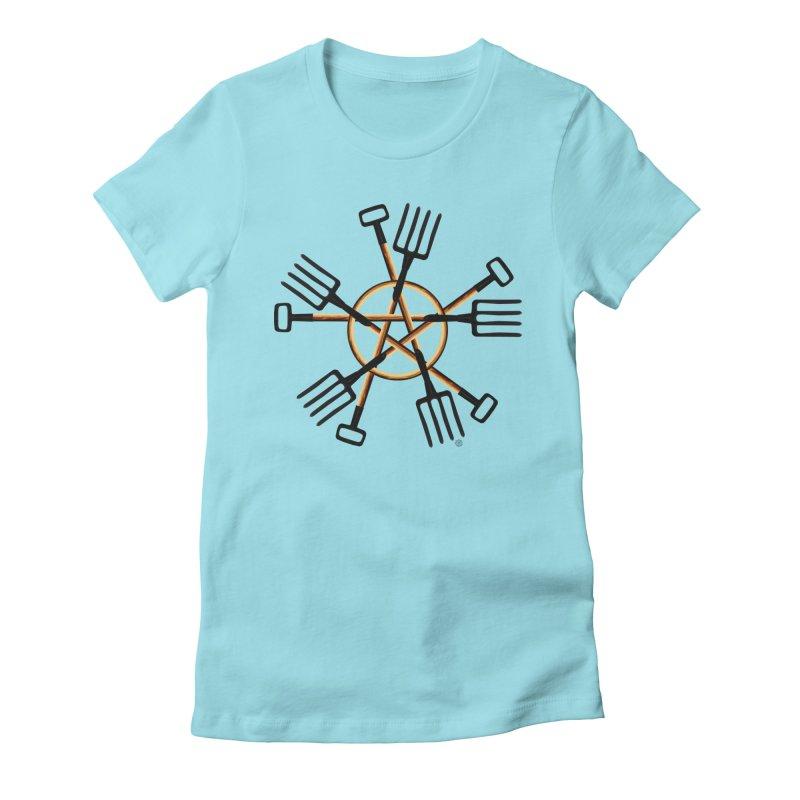 PAGAN GARDENER Women's Fitted T-Shirt by Felix Culpa Designs