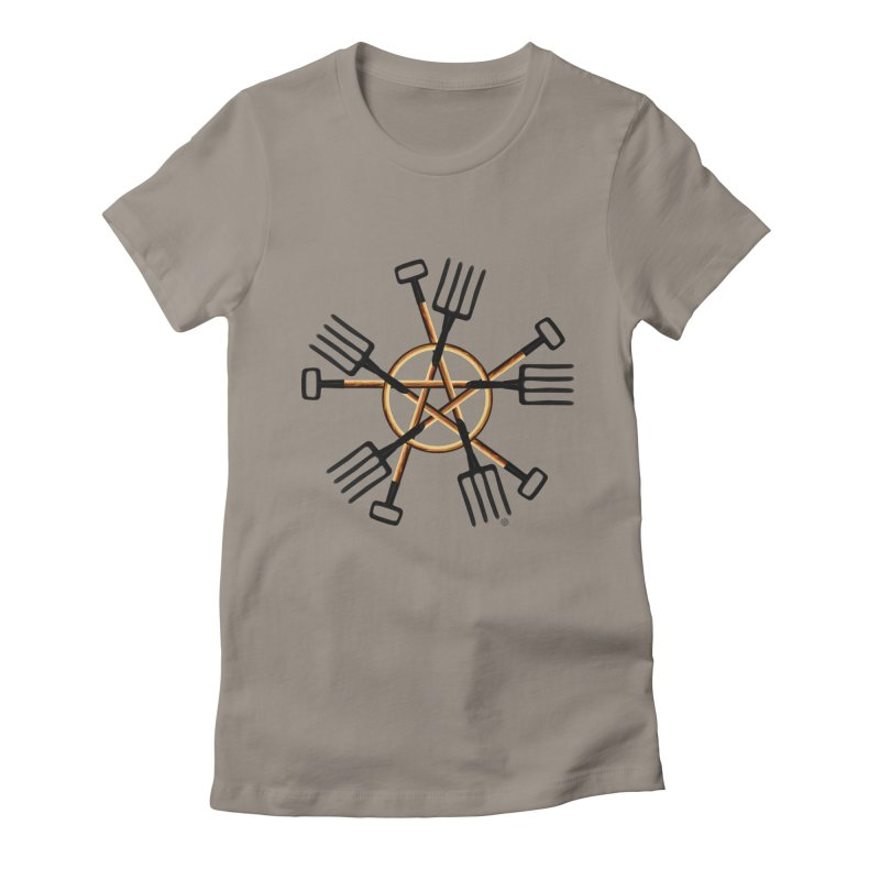 Pagan Gardener Women's Fitted T-Shirt by Felix Culpa Designs