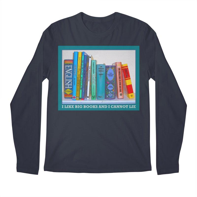 I LIKE BIG BOOKS... Men's Regular Longsleeve T-Shirt by Felix Culpa Designs