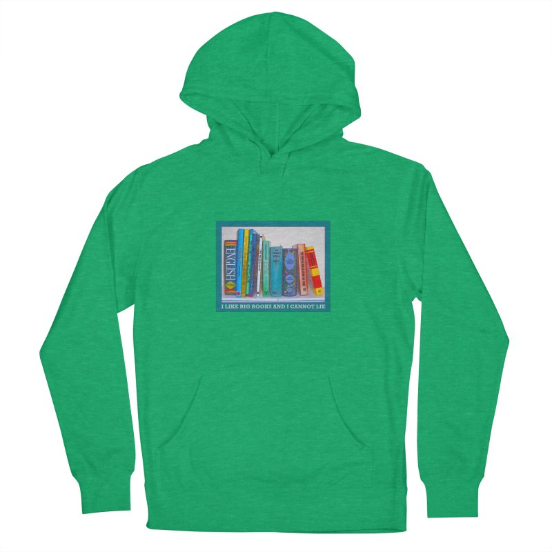 I LIKE BIG BOOKS... Men's French Terry Pullover Hoody by Felix Culpa Designs