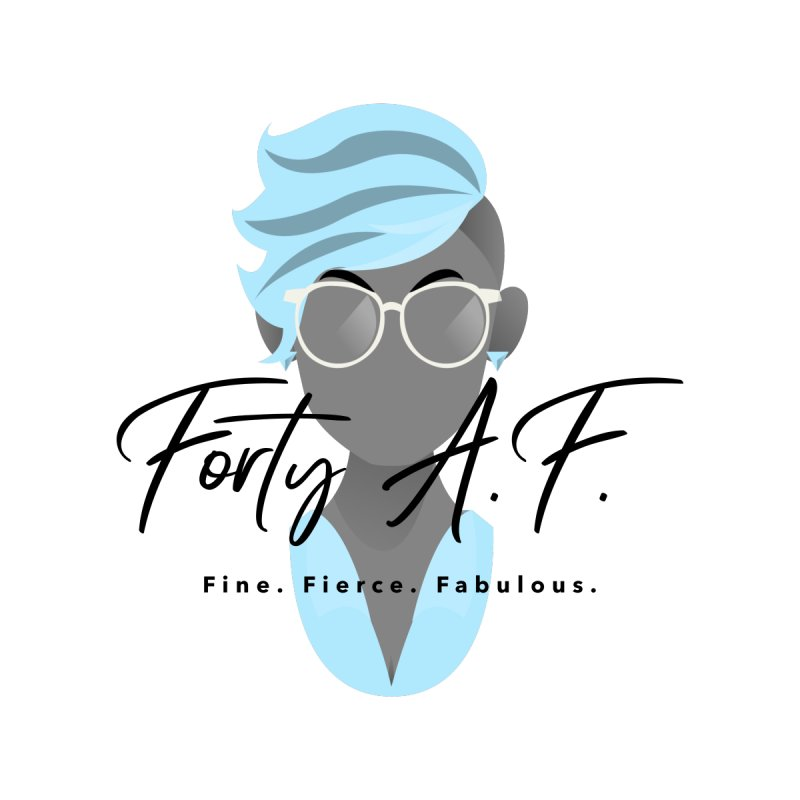 "Forty A.F. ""Baddie Blue"" by femmejoliecolumbus's Artist Shop"