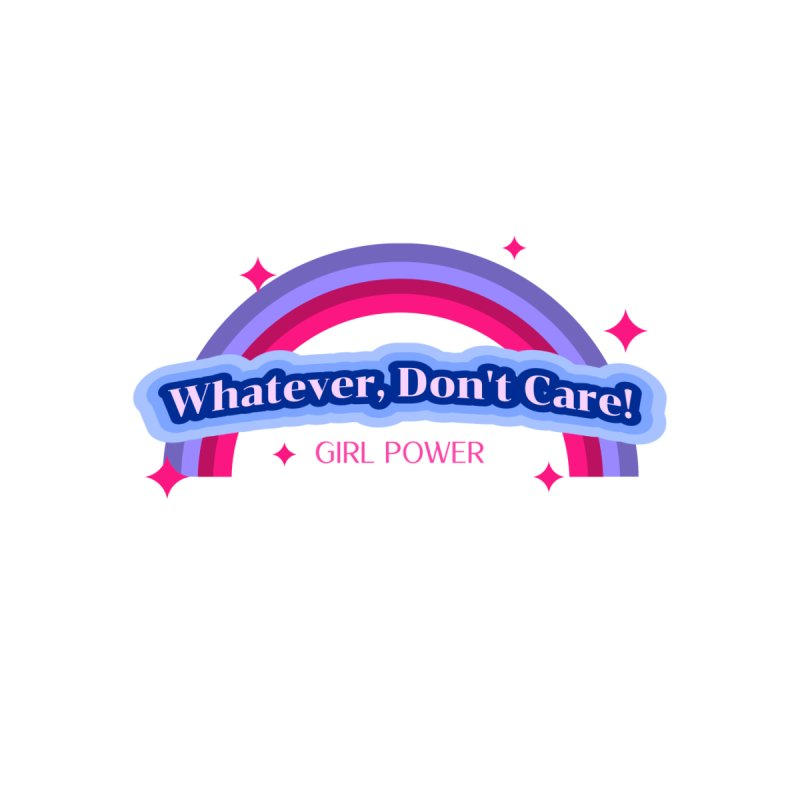 Whatever, Don't Care! Kids T-Shirt by femmejoliecolumbus's Artist Shop