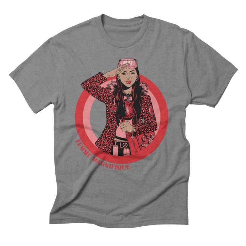 Femme Salute Men's Triblend T-Shirt by Femme Magnifique