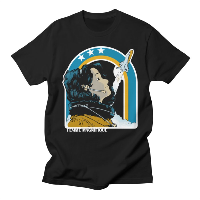 Astronaut Magnifique Men's T-shirt by Femme Magnifique