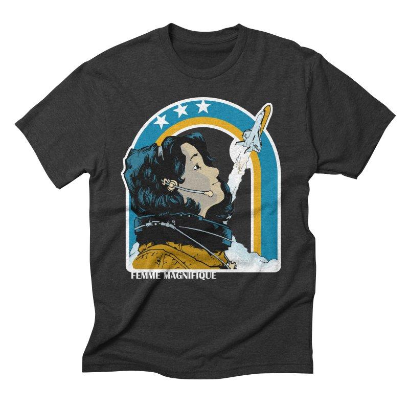 Astronaut Magnifique Men's Triblend T-Shirt by Femme Magnifique