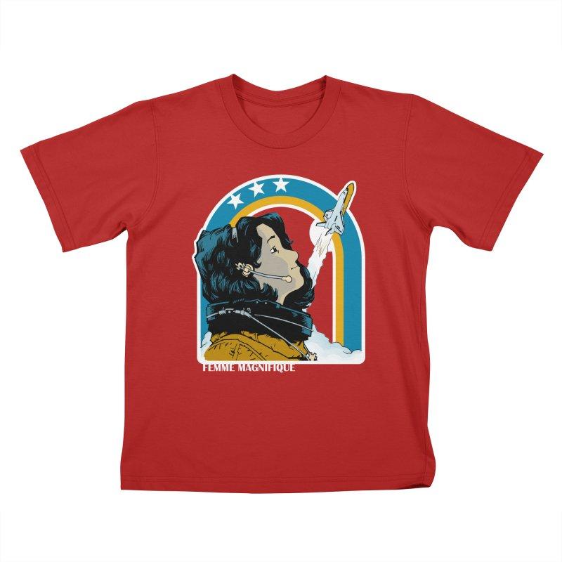Astronaut Magnifique Kids T-shirt by Femme Magnifique