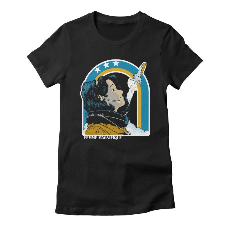 Astronaut Magnifique Women's Fitted T-Shirt by Femme Magnifique