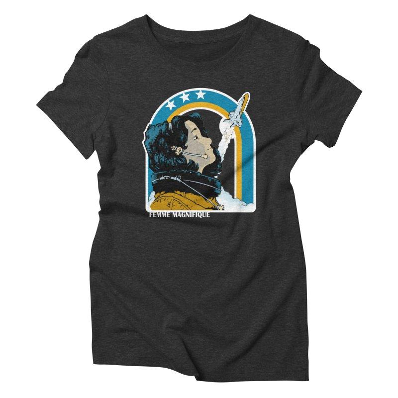 Astronaut Magnifique Women's Triblend T-Shirt by Femme Magnifique