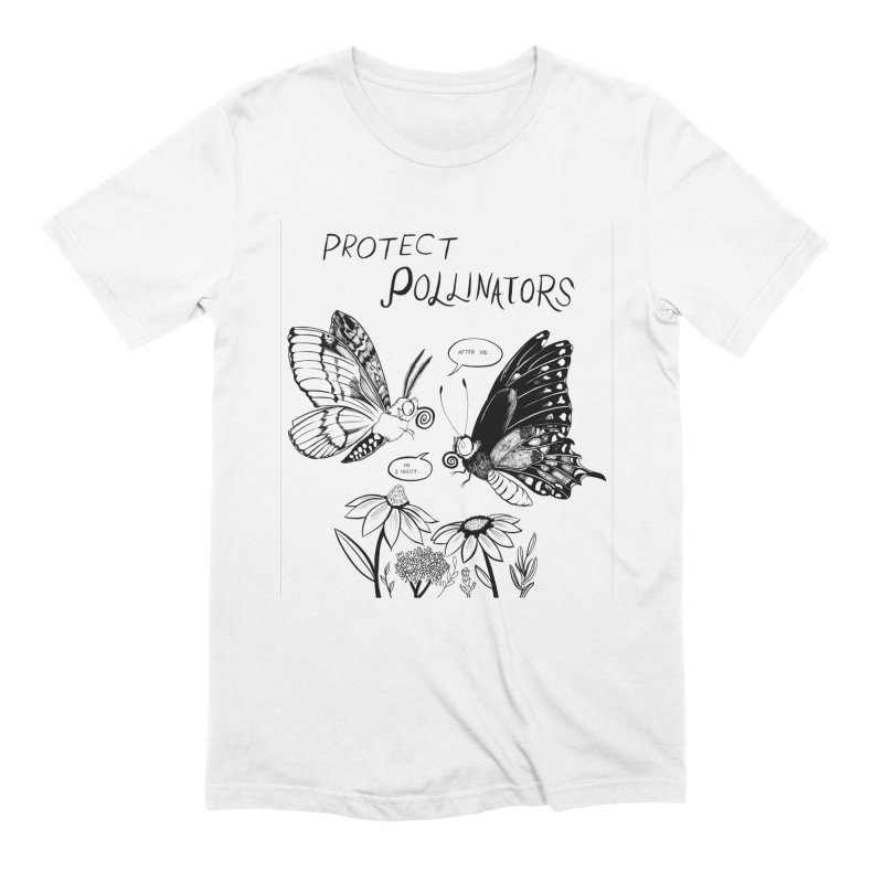 Protect Pollinators in Men's Extra Soft T-Shirt White by Feral Pony