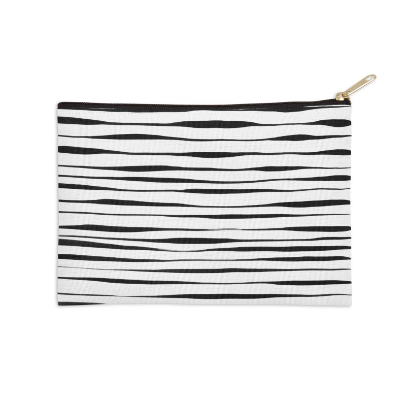 Switch Stripes Accessories Zip Pouch by Feral Pony