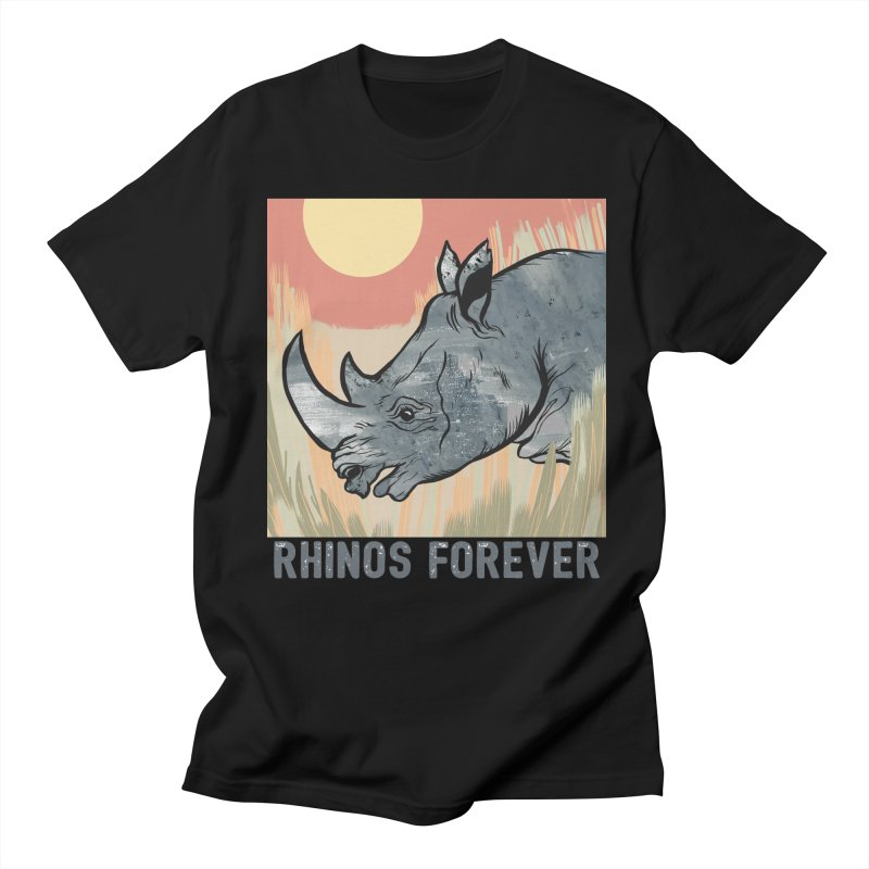 Rhinos Forever Men's T-Shirt by feralpony's Artist Shop