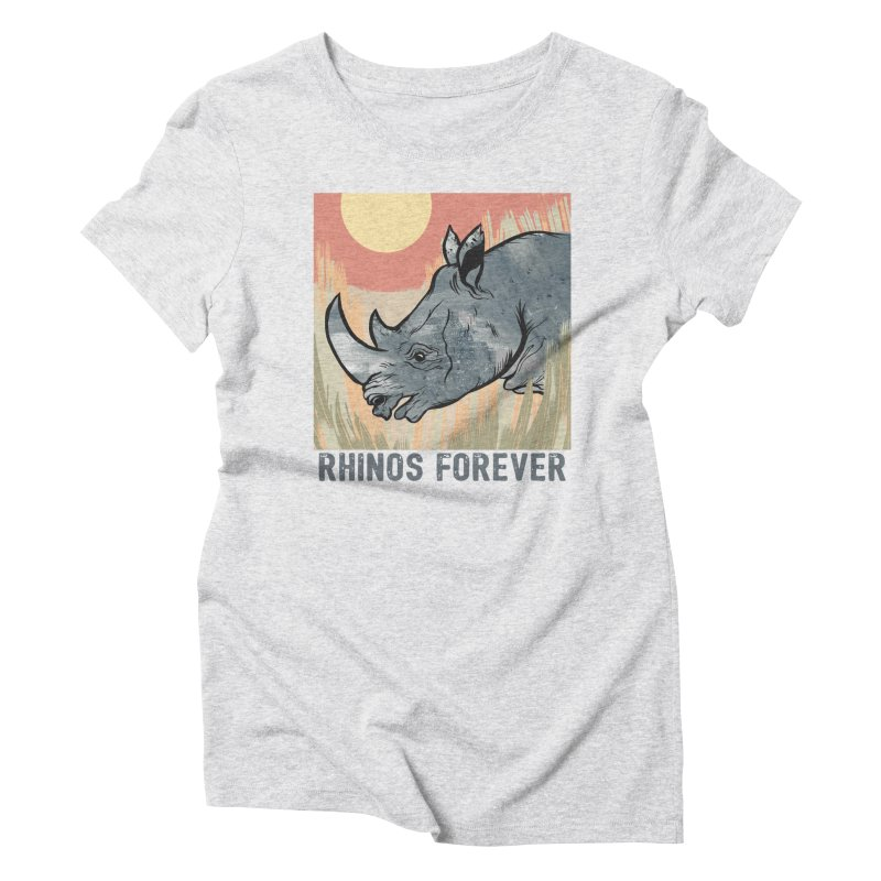 Rhinos Forever Women's Triblend T-Shirt by feralpony's Artist Shop