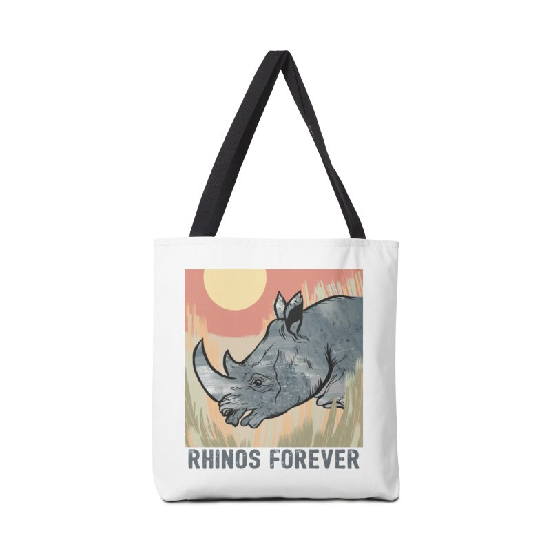 Rhinos Forever Accessories Bag by feralpony's Artist Shop