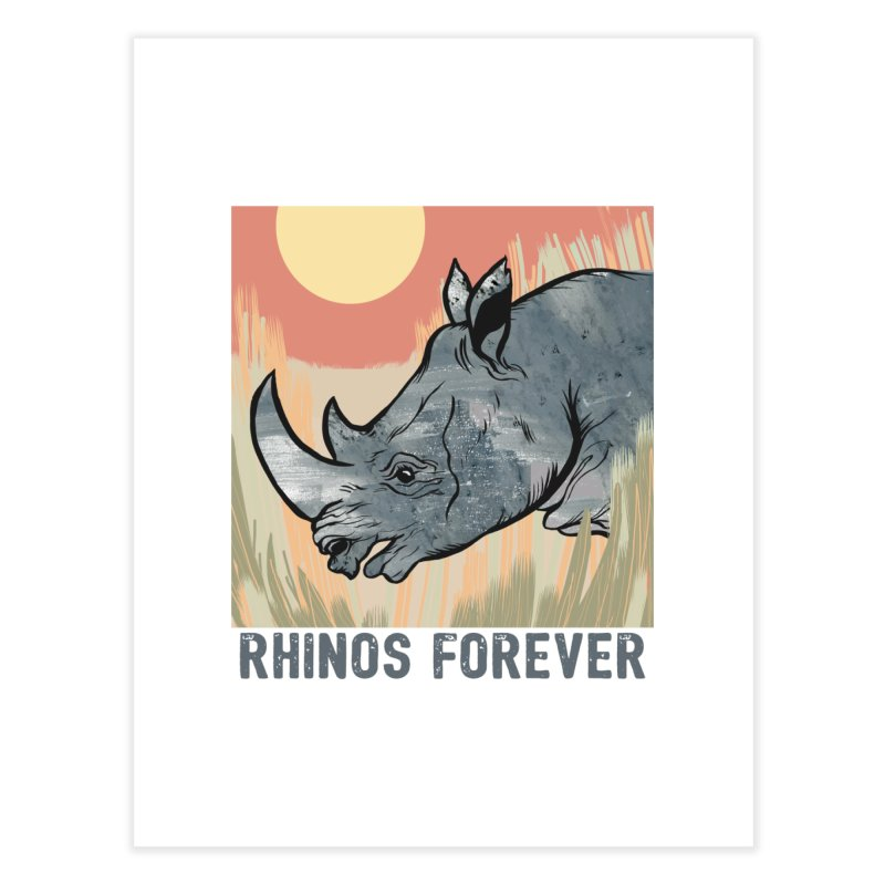 Rhinos Forever Home Fine Art Print by feralpony's Artist Shop