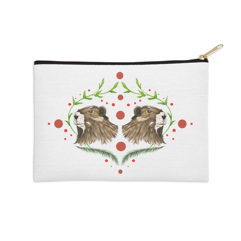 Canada's Endangered Marmots Accessories Zip Pouch by Feral Pony