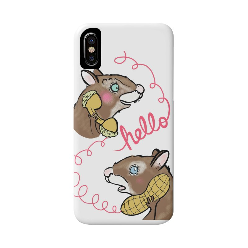 Acorn Calling Peanut Accessories Phone Case by feralpony's Artist Shop