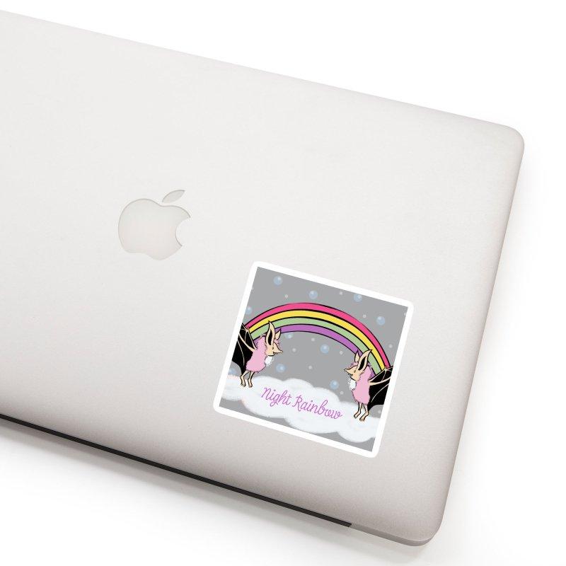 Night Rainbow Accessories Sticker by feralpony's Artist Shop