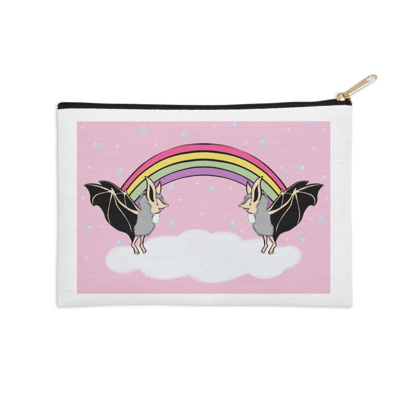 Rainbow Bats Accessories Zip Pouch by feralpony's Artist Shop