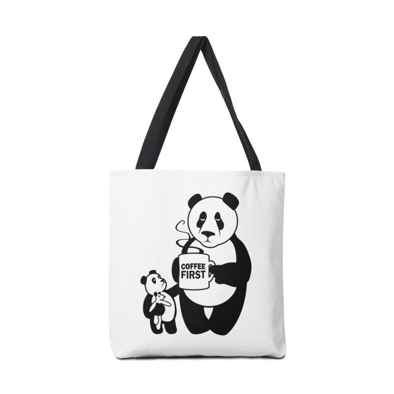 Coffee First Accessories Tote Bag Bag by ferg's Artist Shop
