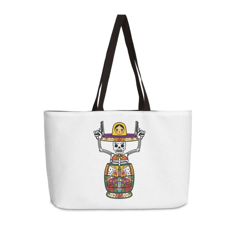 Pistolerski Accessories Weekender Bag Bag by ferg's Artist Shop