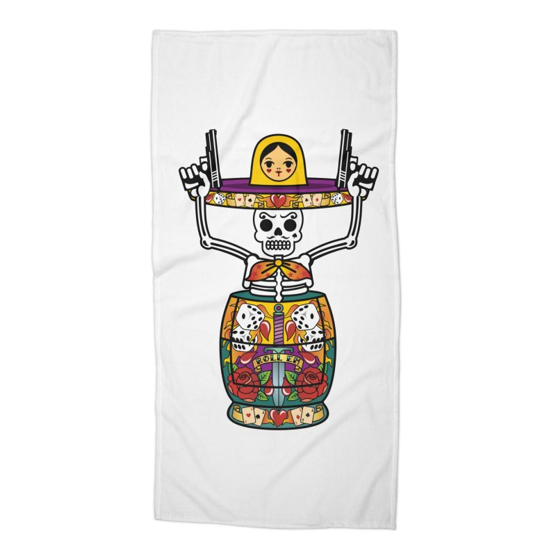 Pistolerski Accessories Beach Towel by ferg's Artist Shop