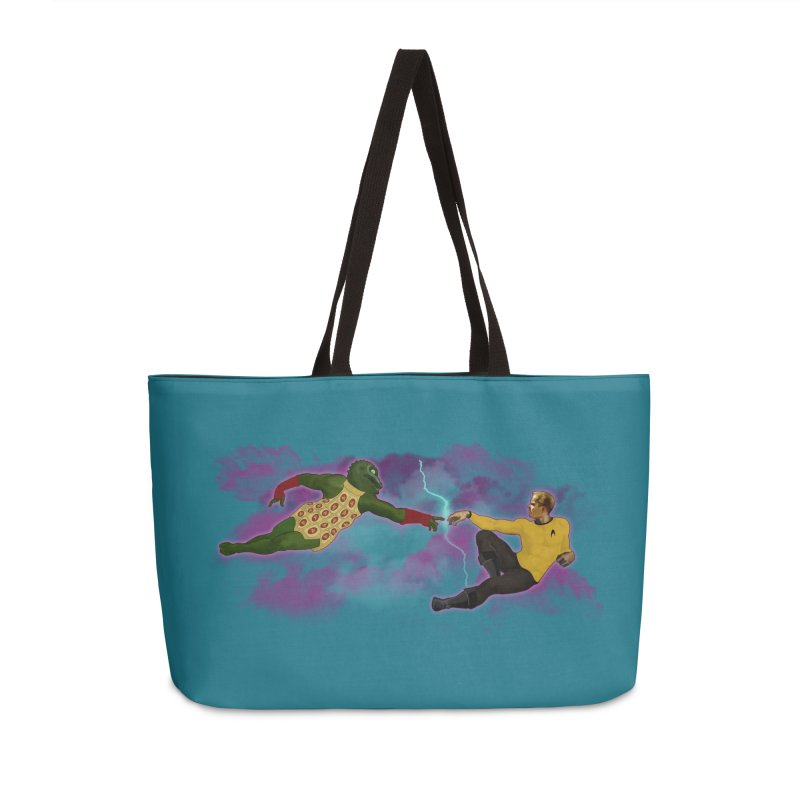 Kirk and Gorn Accessories Bag by ferg's Artist Shop