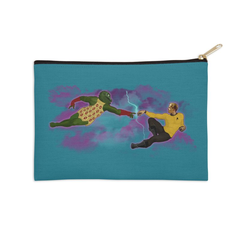 Kirk and Gorn Accessories Zip Pouch by ferg's Artist Shop